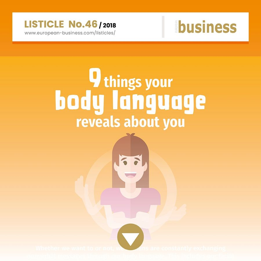 9 things your body language reveals about you