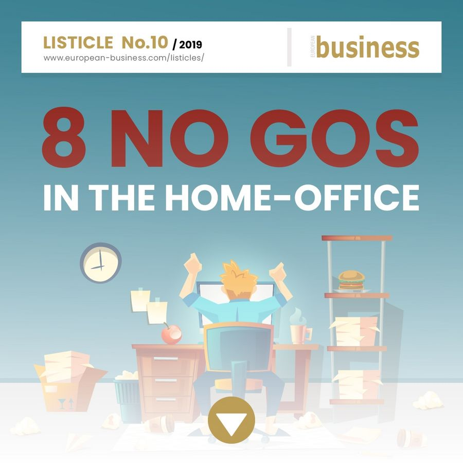 8 No-gos in the home office