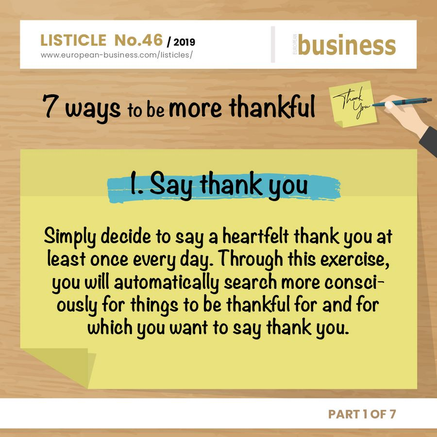 7 ways to be more thankful - Say thank you