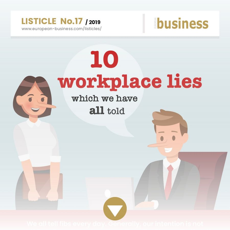 10 workplace lies which we have all told
