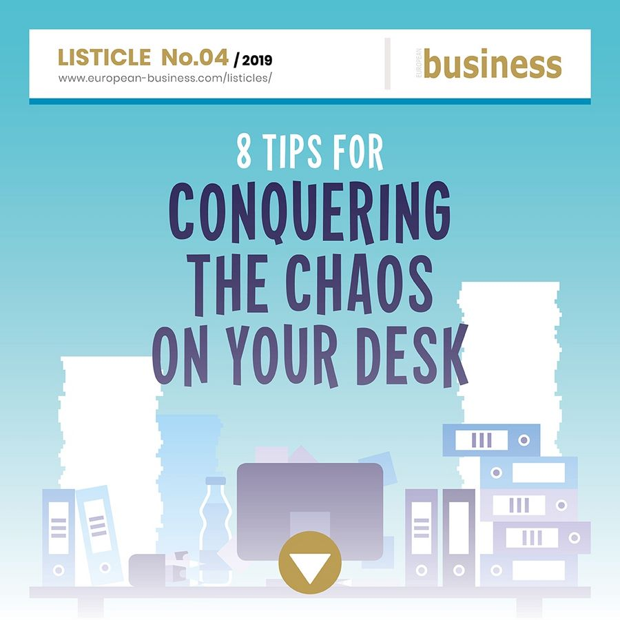 8 tips for conquering the chaos on your desk