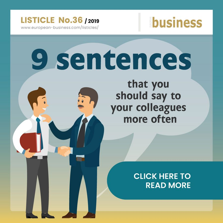 9 sentences that you should say to your colleagues more often