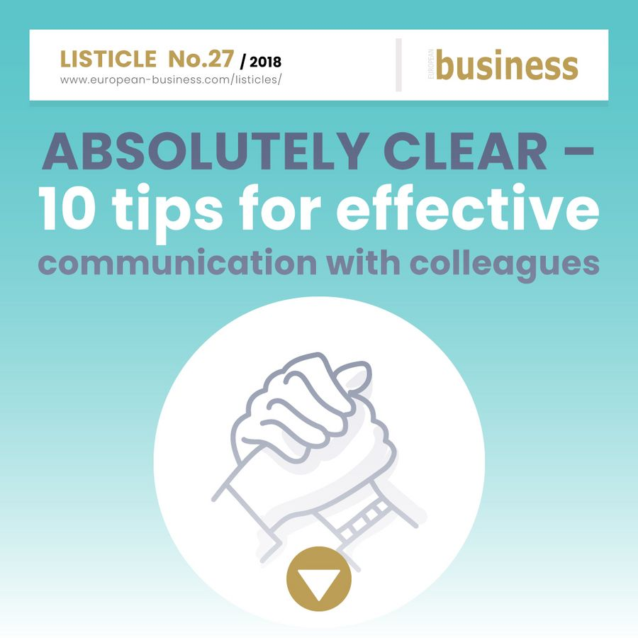 Absolutely clear – 10 tips for effective communication with colleagues