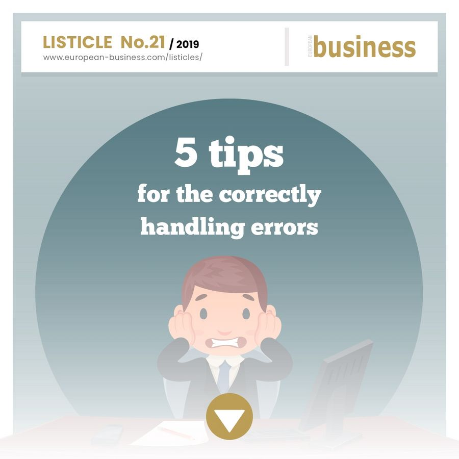 5 tips for correctly handling errors