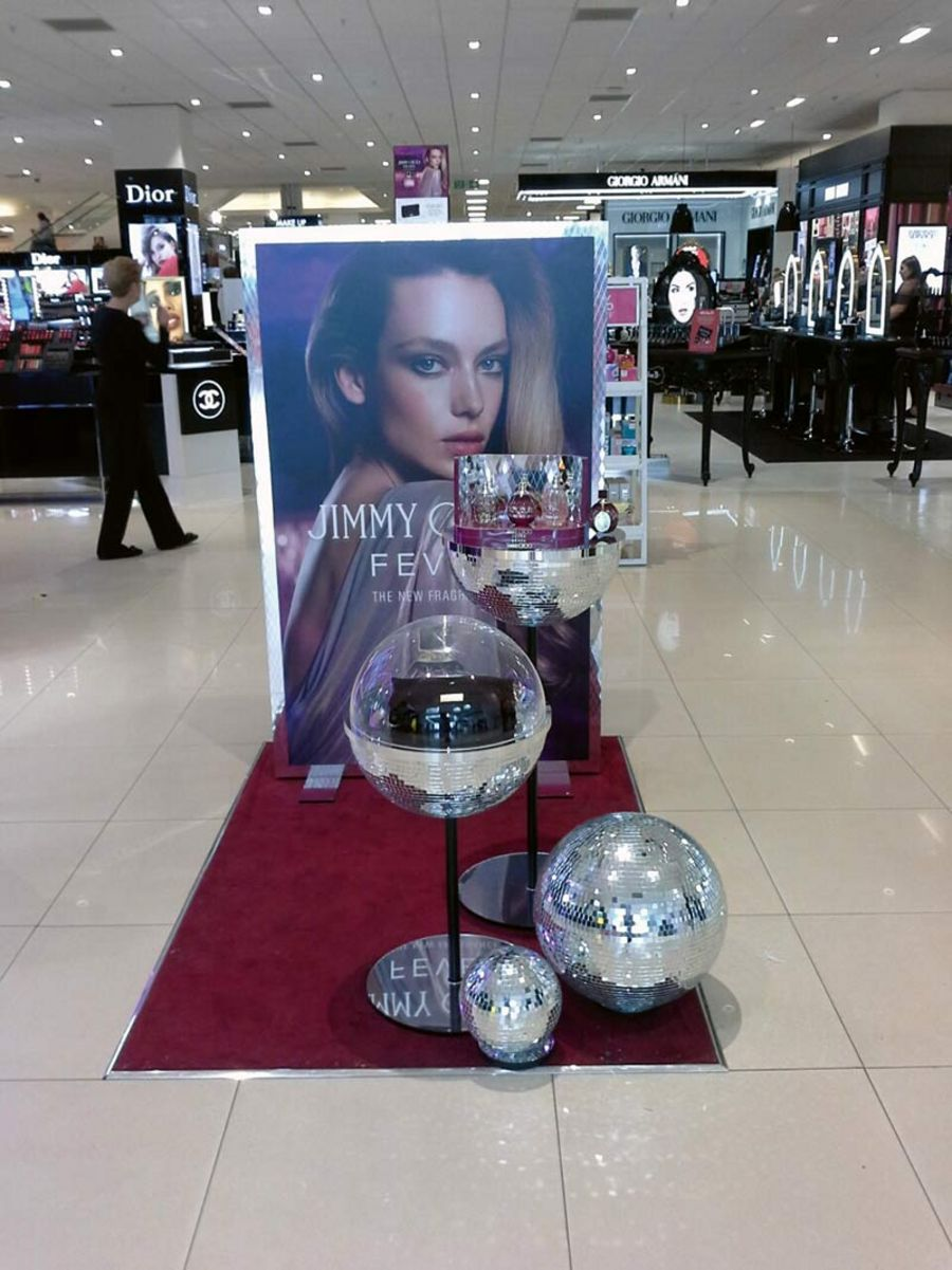 Promotional stand for Jimmy Choo Fever