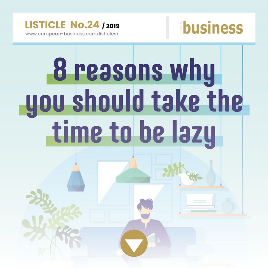 8 reasons why you should take the time to be lazy