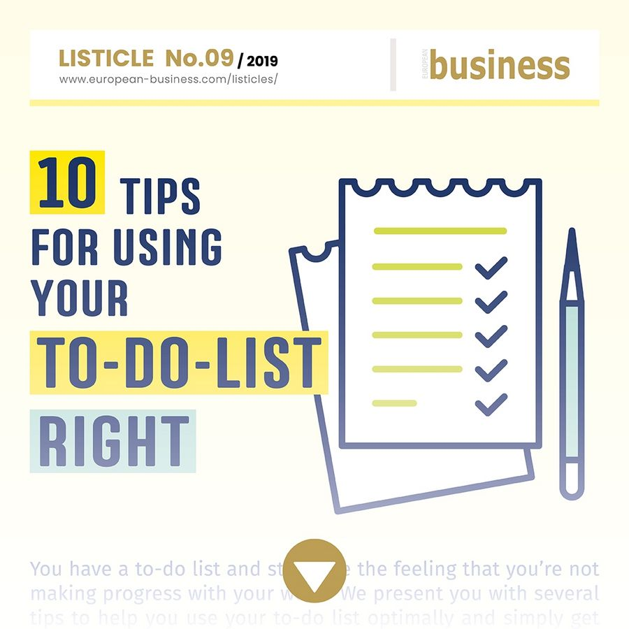 10 tips for using your to-do list right