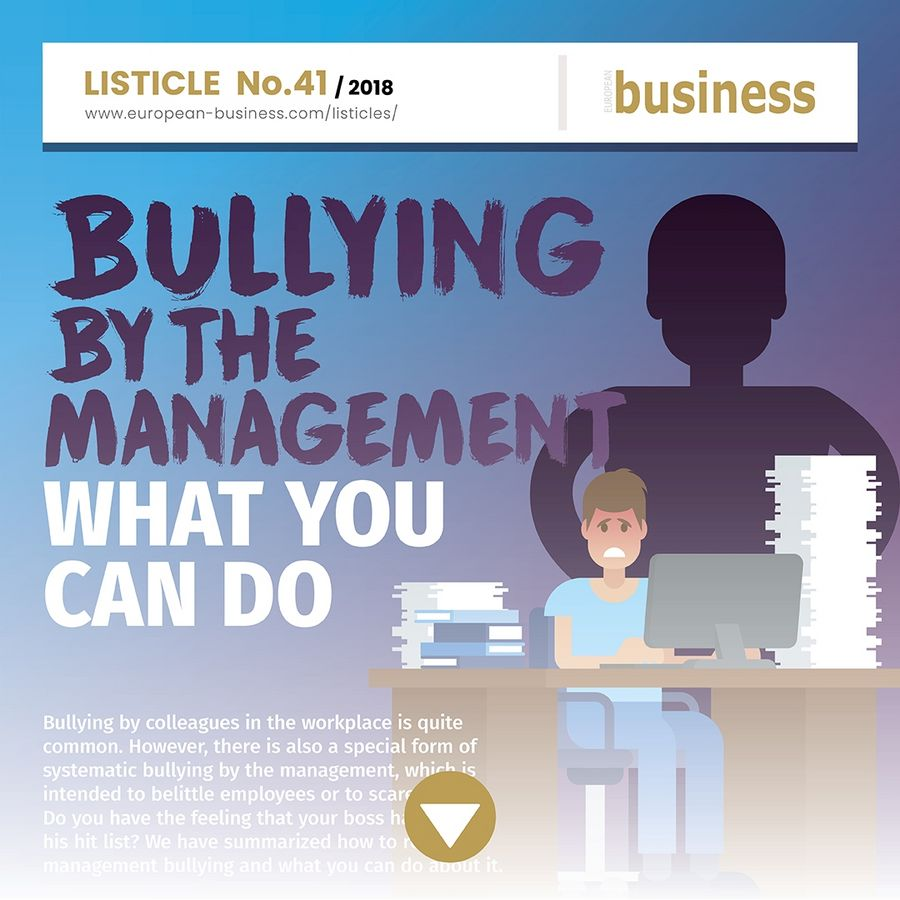 Signs of management bullying
