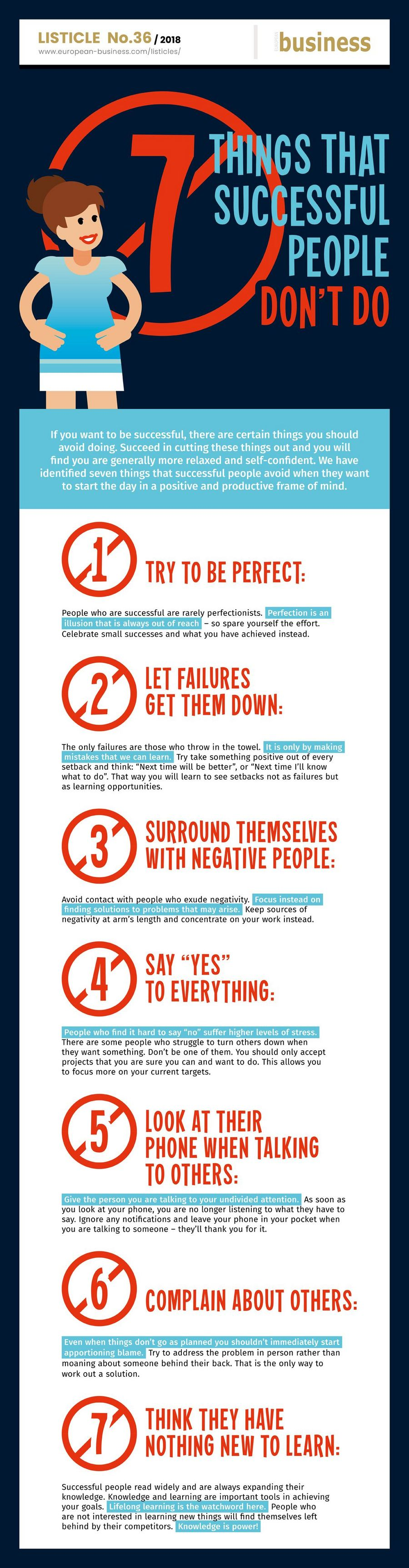 7 Things That Successful People Don T Do European Business Com