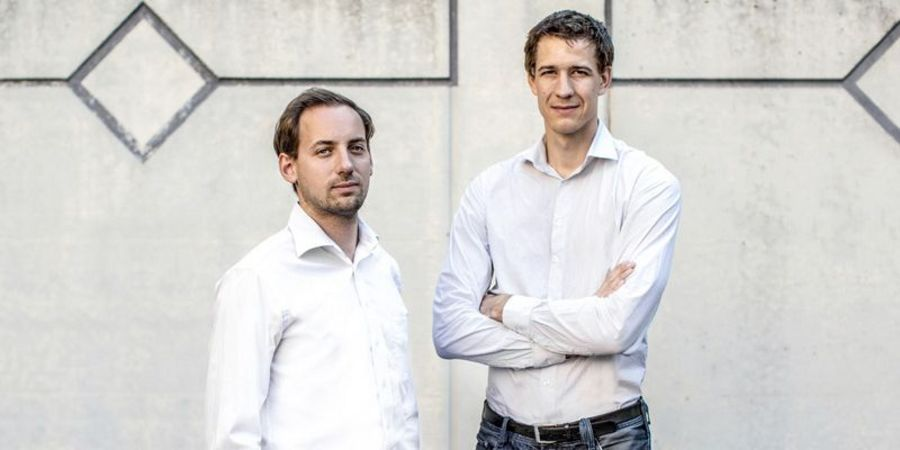 Founders with a strong focus on drones: Patrick Thévoz (CEO) and Dr. Adrien Briod (CTO) of Flyability