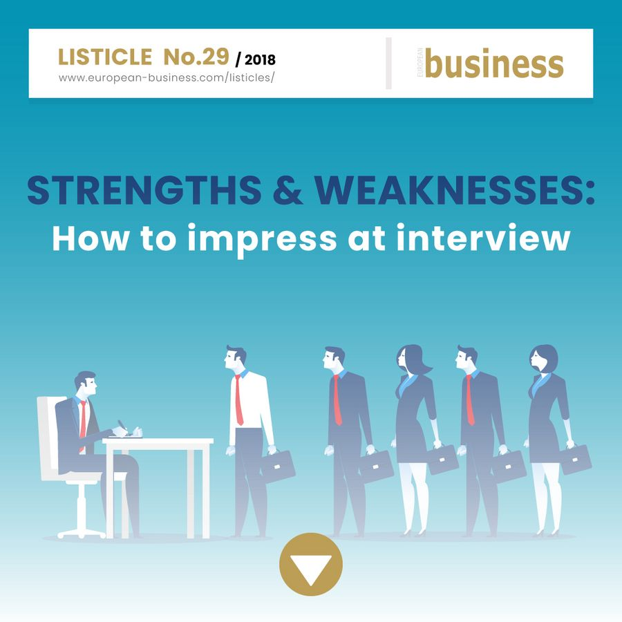 Strengths & weaknesses: How to impress at interview