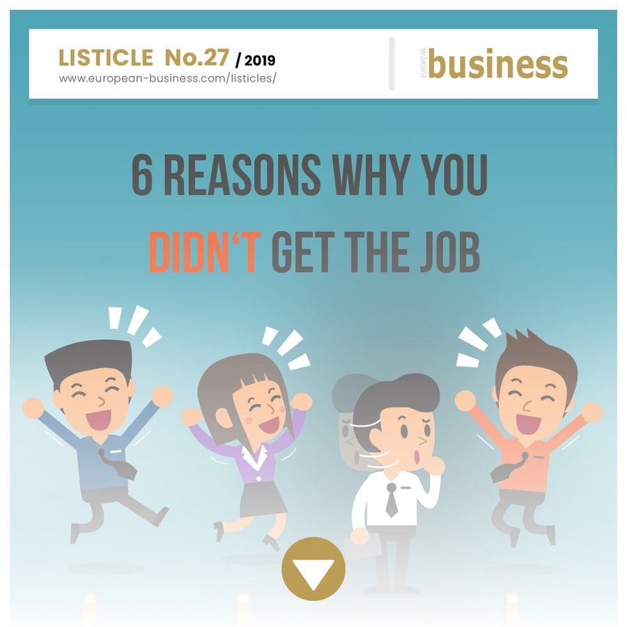 6 reasons why you didn't get the job