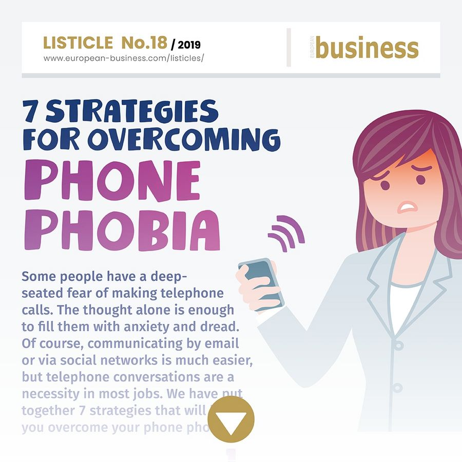Overcome phone phobia