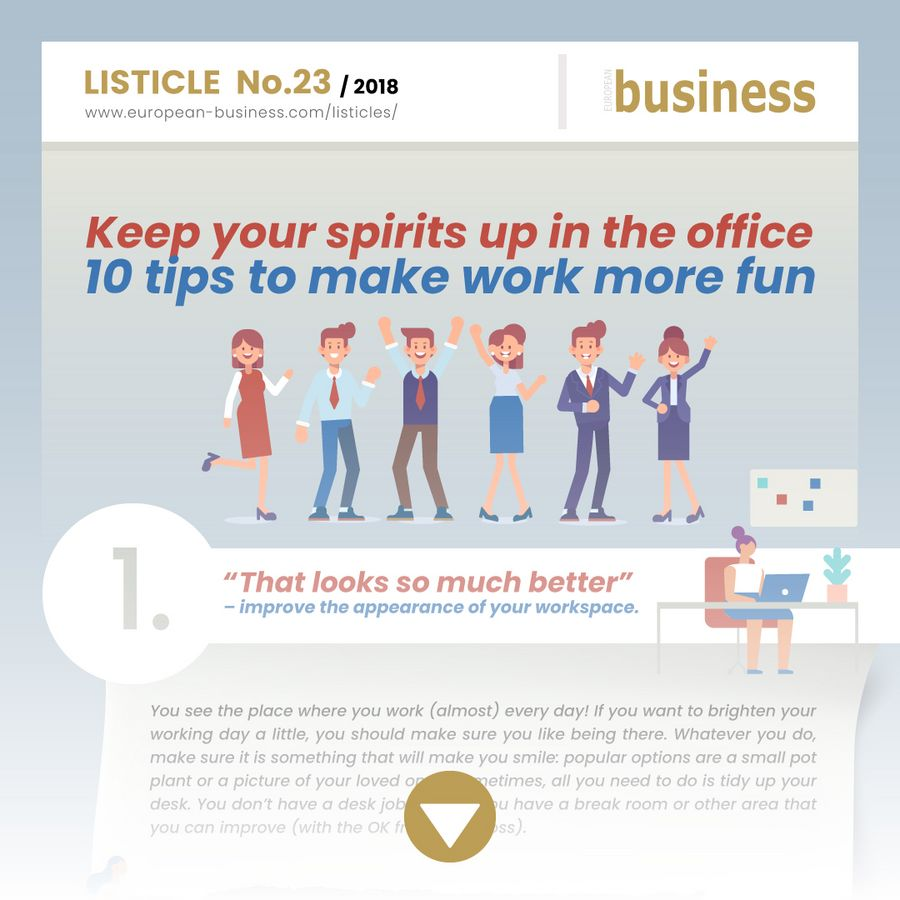 0025_Keep your spirits up in the office – 10 tips to make work more fun