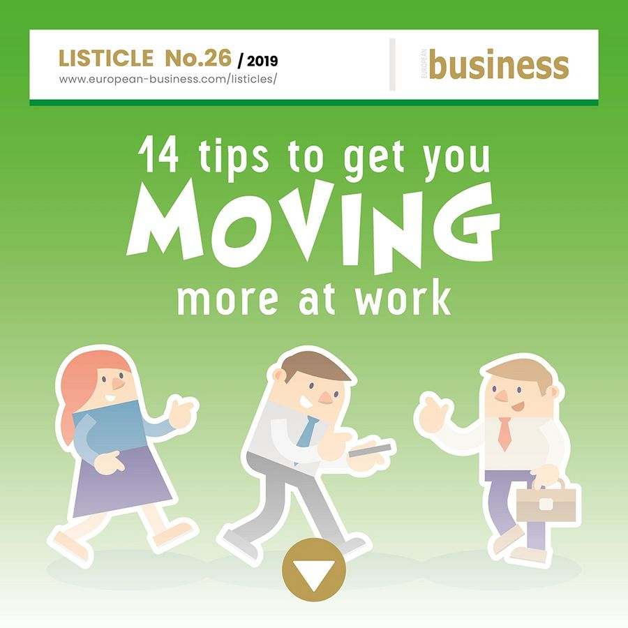 14 tips to get you moving more at work