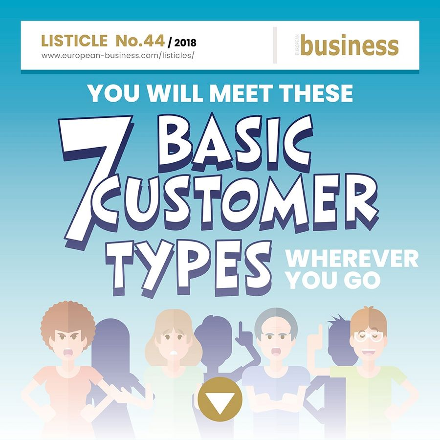 You will meet these 7 basic customer types wherever you go