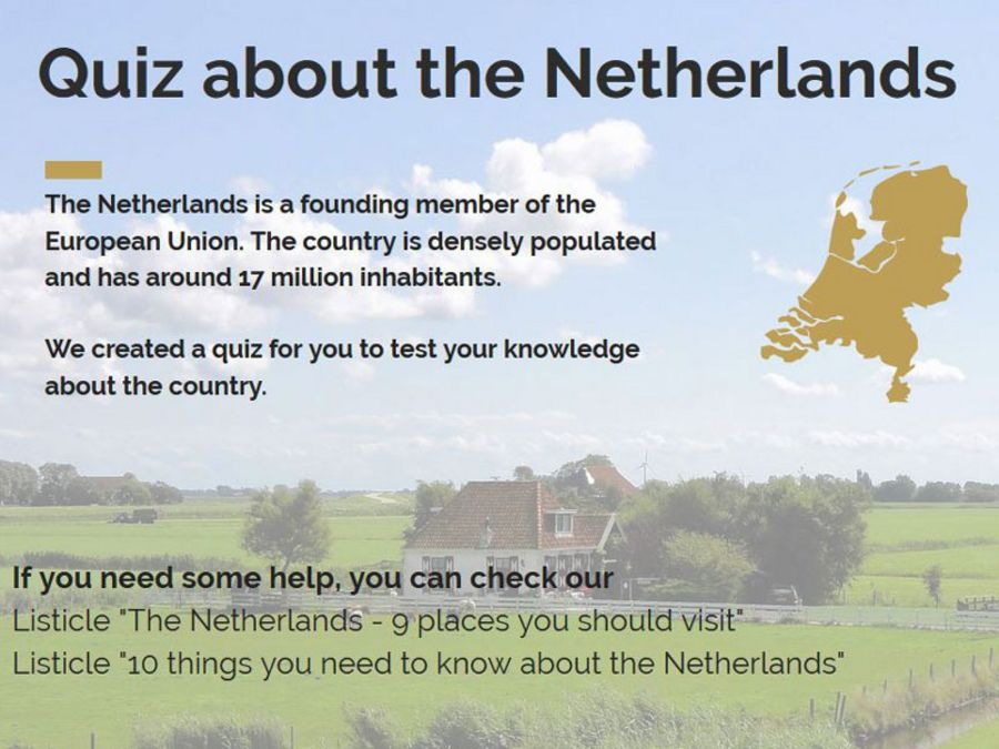 Quiz about the Netherlands