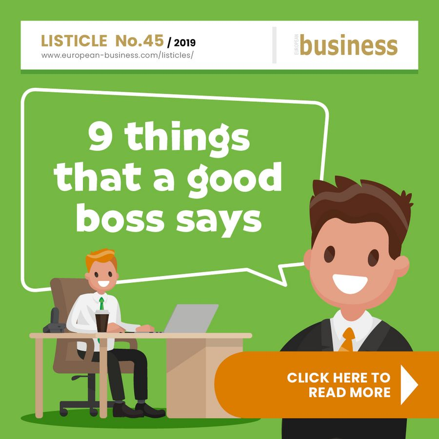 9 things that a good boss says