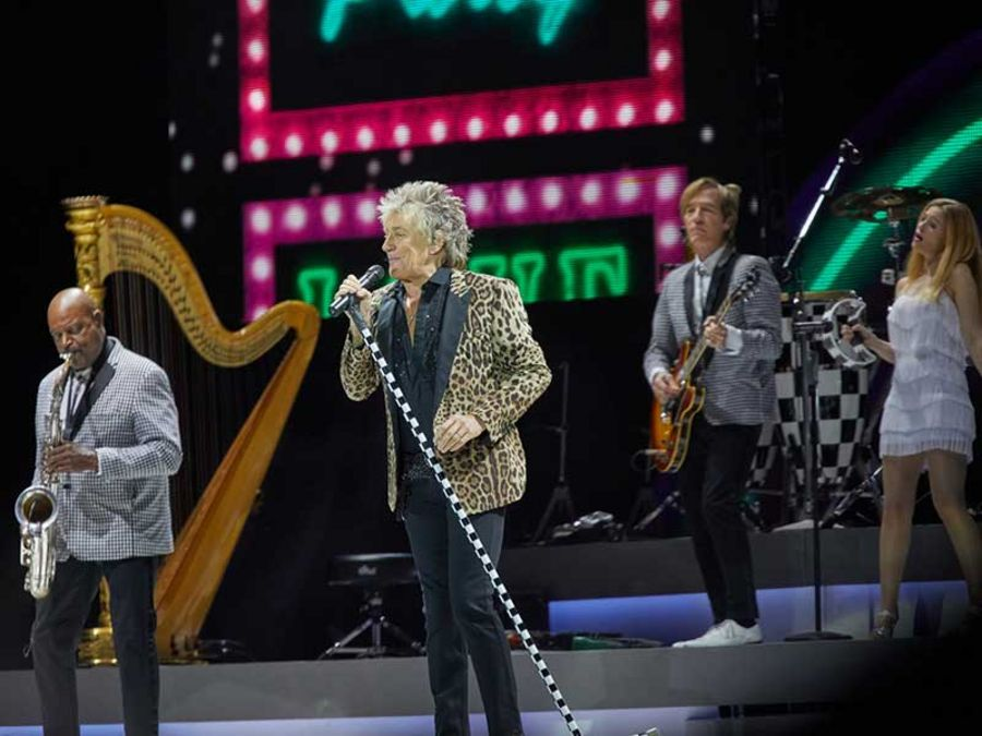 Rod Stewart is one of many famous international artists who have performed at the arena in 2018