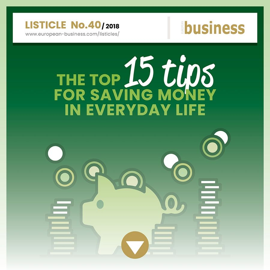 The top 15 tips for saving money in everyday life