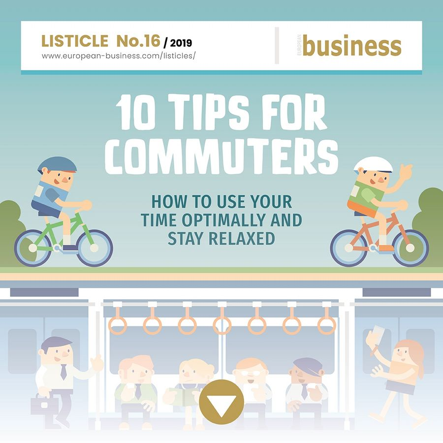 10 tips for commuters: How to use your time optimally and stay relaxed