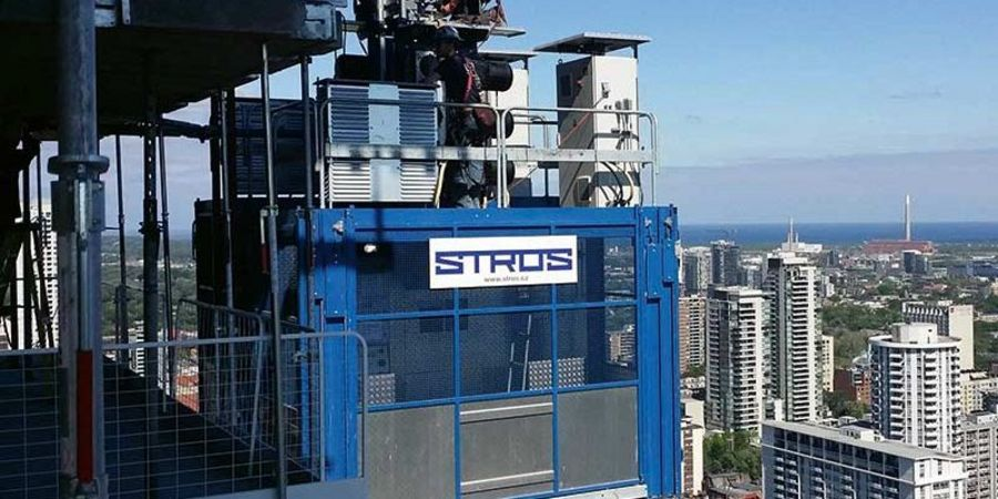 Stros Construction hoist in Toronto