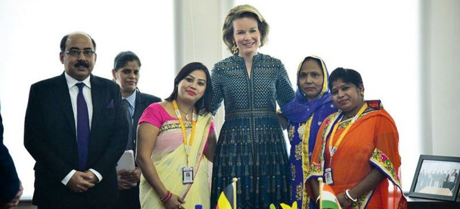 High profile supporters: Queen Mathilde of Belgium visits Fusion Microfinance in India