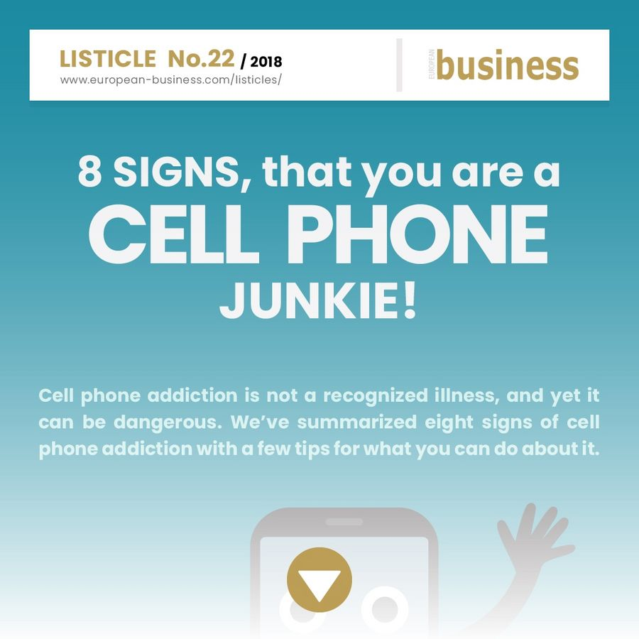 8 signs that you are a cell phone junkie