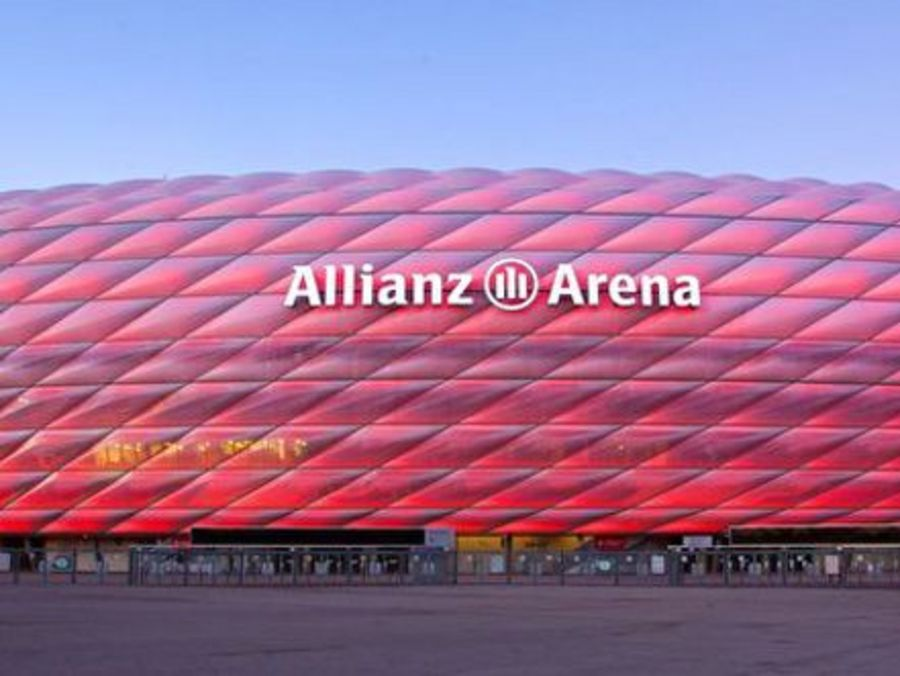 The Allianz arena: Home to FC Bayern...