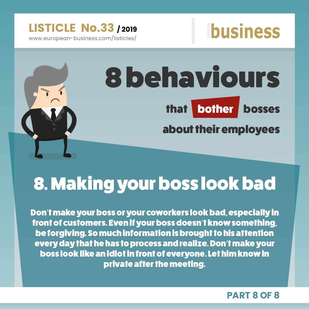 Making your boss look bad