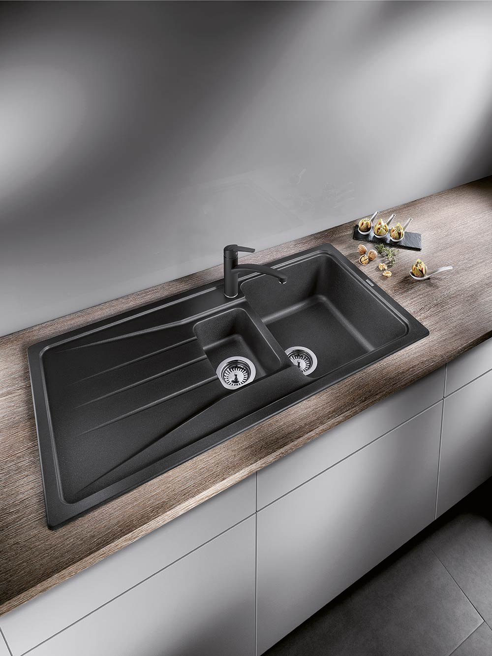 portrait blanco kitchen sinks The BLANCO SONA 6 S offers more space and more comfort in SILGRANIT composite material