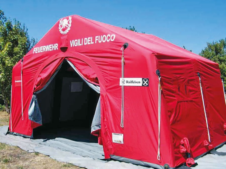 Trendline tents are inflatable rescue shelters which can be assembled and taken down by two people in less than five minutes. Losberger Rapid Deployment ... & Losberger Rapid Deployment Systems SAS // European Business