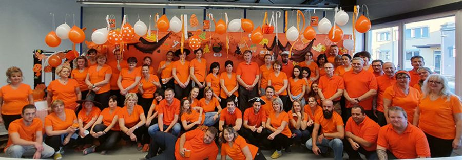 TE Connectivity KISSLING Products GmbH team orange day 2019