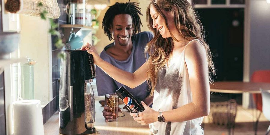 The latest SodaStream machines and bottles feature an attractive design