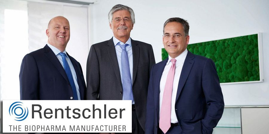 CEO Dr. Frank Mathias (left) and COO Dr. Ralf Otto (right) are incredibly proud of Rentschler Biopharma's achievements